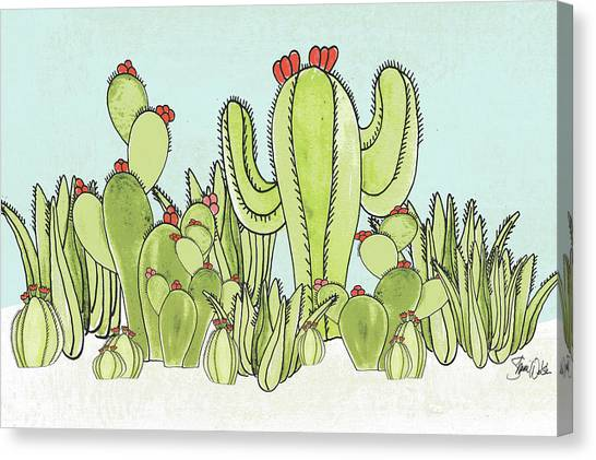 Succulent Canvas Print - Cactus IIi by Shanni Welsh