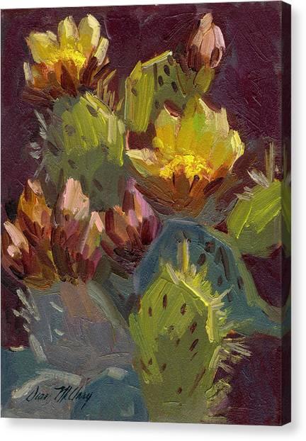 Cactus In Bloom 1 Canvas Print