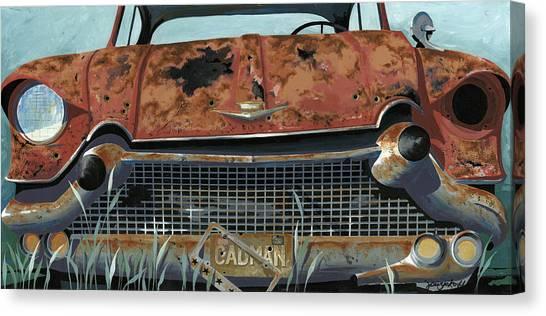 Junk Canvas Print - Cad Man by John Wyckoff