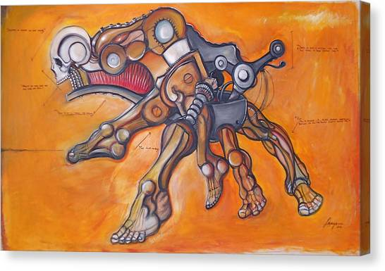 Cadaver Feet Project Canvas Print by Jose Gonzalez Lanza