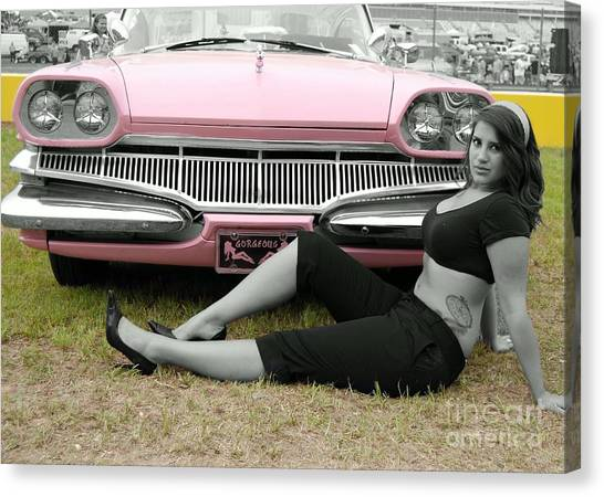 Caddy With Curves Canvas Print