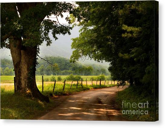 Canvas Print featuring the photograph Cades Cove Loop by T Lowry Wilson