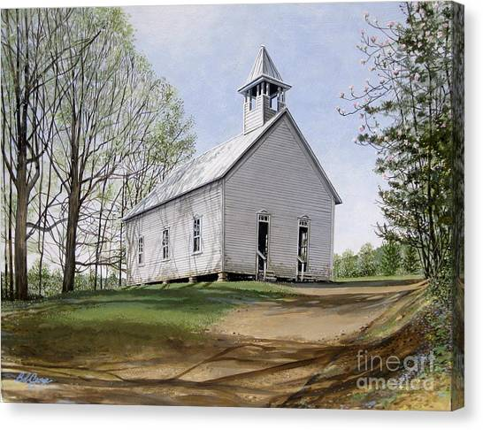 Cades Cove Methodist Church Canvas Print