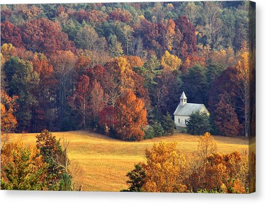 Cades Cove Methodist Church Canvas Print