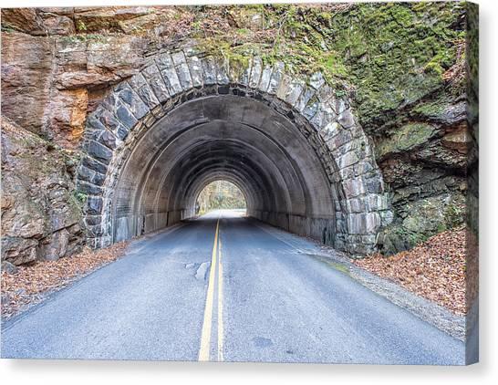 Cades Cove Road Tunnel Canvas Print