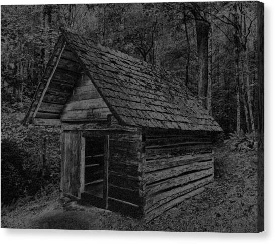 Cades Cove Shed Canvas Print by Gary Rieks