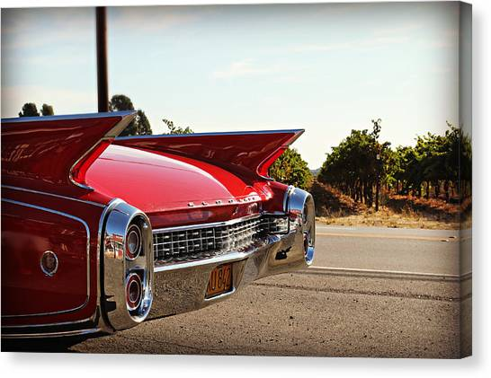 Cadillac In Wine Country  Canvas Print