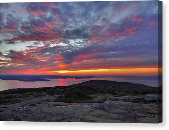 Cadillac Mountain Sunrise 2 Canvas Print