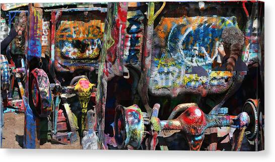 Cadillac Ranch Abstract Canvas Print