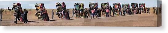 Cadillac Ranch Horizon Canvas Print