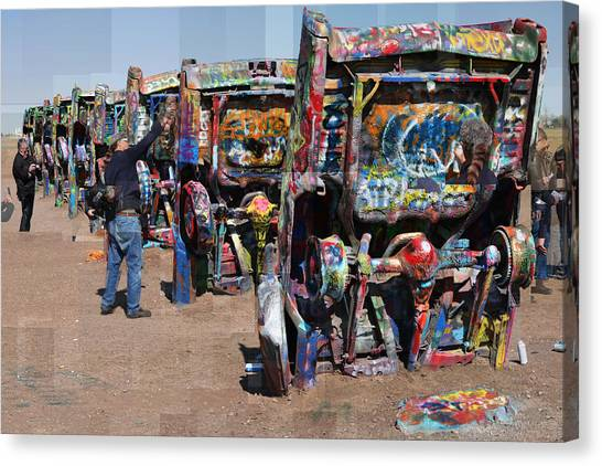 Cadillac Ranch Oblique Canvas Print