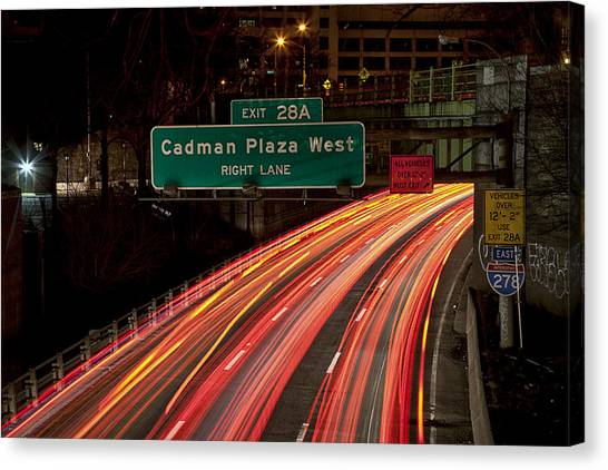 Cadman Plaza Night Canvas Print