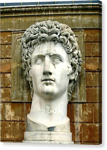 The Vatican Museum Canvas Print - Caesar Augustus by Ellen Henneke