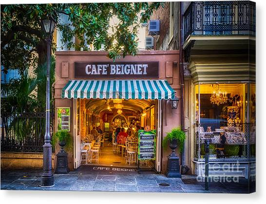 Cafe Beignet Morning Nola Canvas Print