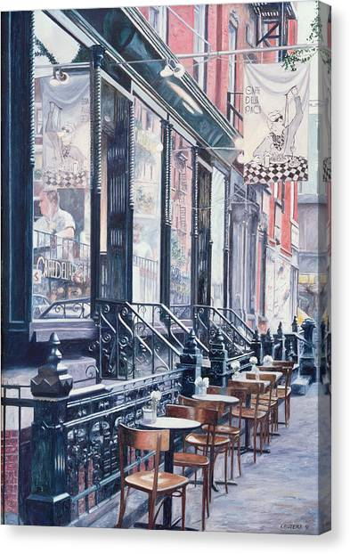 Storefront Canvas Print - Cafe Della Pace East 7th Street New York City by Anthony Butera