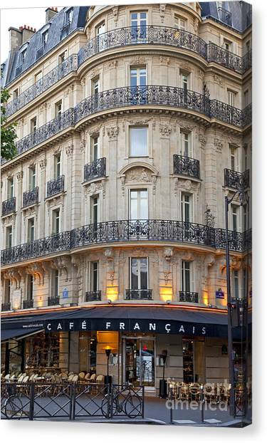 Cafe Francais Canvas Print