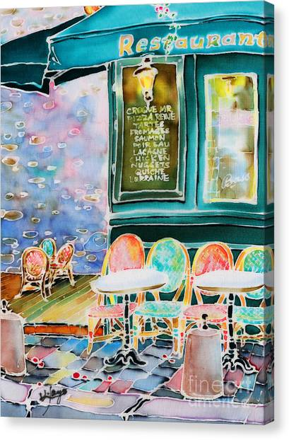 Cafe In Montmartre Canvas Print