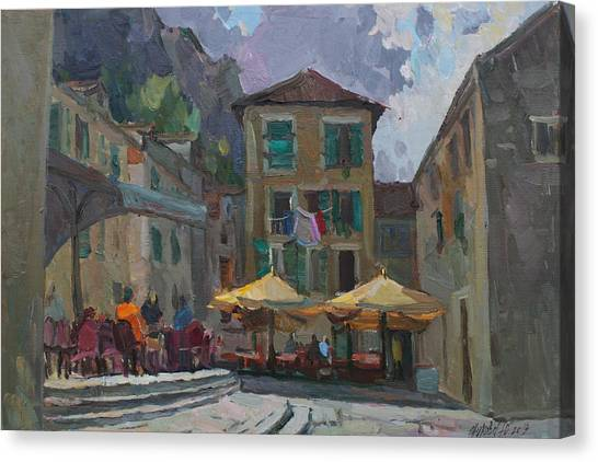 Cafe In Old City Canvas Print