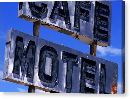 Cafe Motel Canvas Print
