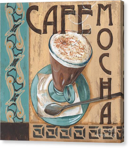 Cafes Canvas Print - Cafe Nouveau 1 by Debbie DeWitt