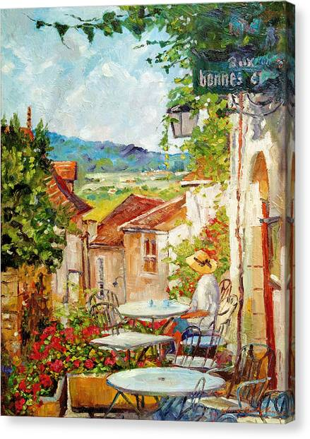 Cafe Provence Morning Canvas Print