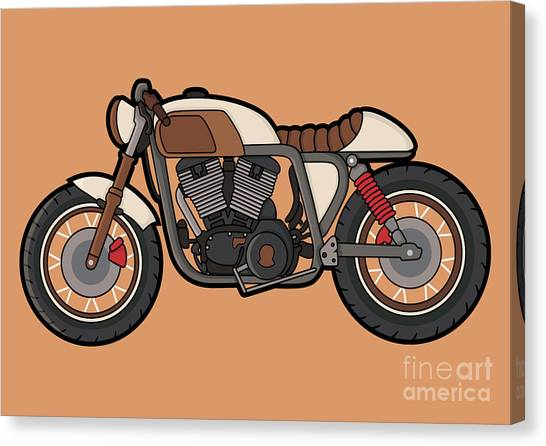 Culture Canvas Print - Cafe Race Motor Vector by Wnprh Collective