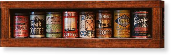 Cafe Retro No 4 Canvas Print