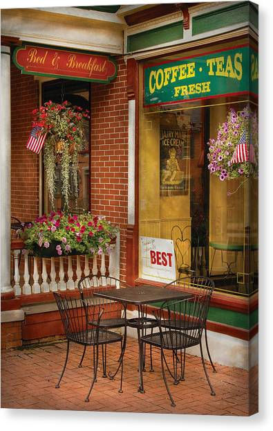 Iced Tea Canvas Print - Cafe - The Best Ice Cream In Lancaster by Mike Savad