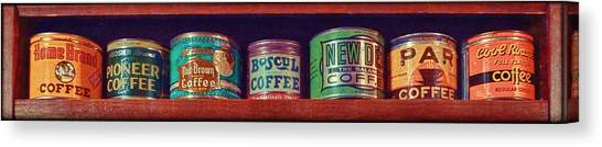 Caffe Retro No. 2 Canvas Print
