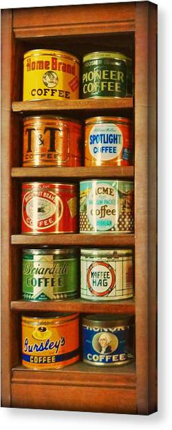 Caffe Retro No. 3 Canvas Print