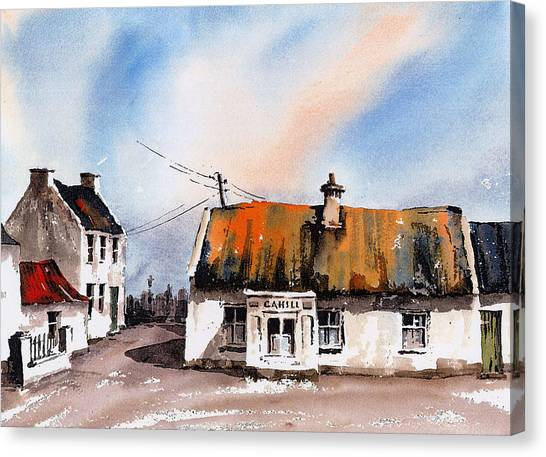 Cahill's Thatched Pub Galmoy Kilkenny Canvas Print