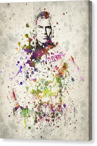 Wrestling Canvas Print - Cain Velasquez by Aged Pixel