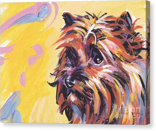 Cairn Terrier Canvas Print - Cairn Cutie by Lea S
