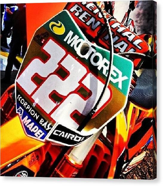 Racing Canvas Print - #cairoli #tony #motocross by Giuseppe Gennari