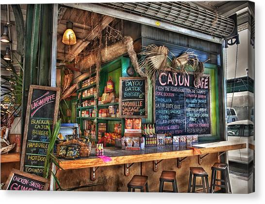 Bayous Canvas Print - Cajun Cafe by Brenda Bryant