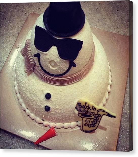 Robins Canvas Print - #cake #iceman #icecream #food #desert by Faiza Sami