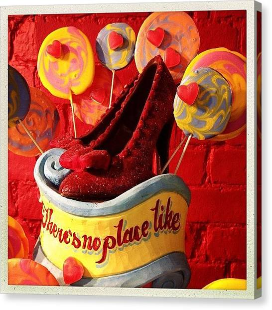 Wizards Canvas Print - Cakes #wizard #oz #red #slippers by Luis Aviles