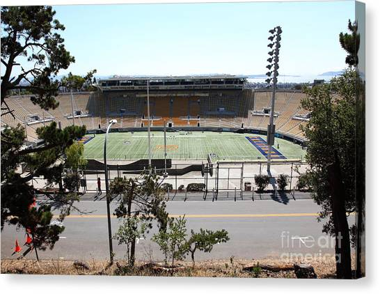 Pac 12 Canvas Print - Cal Bears California Memorial Stadium Berkeley California 5d24656 by Wingsdomain Art and Photography