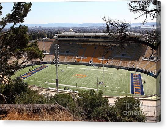 Pac 12 Canvas Print - Cal Bears California Memorial Stadium Berkeley California 5d24659 by Wingsdomain Art and Photography