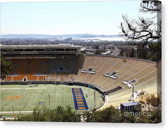 Pac 12 Canvas Print - Cal Golden Bears California Memorial Stadium Berkeley California 5d24665 by Wingsdomain Art and Photography