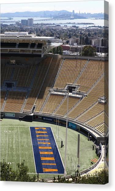 Pac 12 Canvas Print - Cal Golden Bears California Memorial Stadium Berkeley California 5d24666 by Wingsdomain Art and Photography