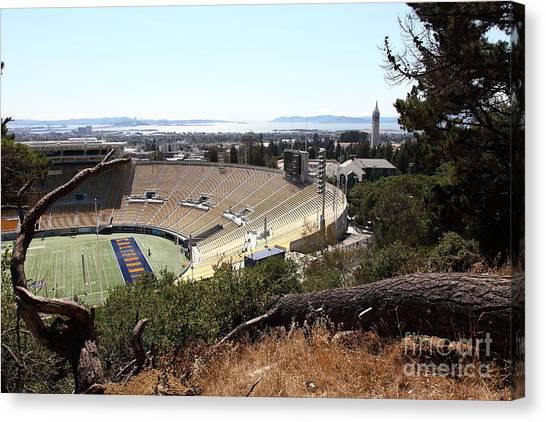 Pac 12 Canvas Print - Cal Golden Bears California Memorial Stadium Berkeley California 5d24670 by Wingsdomain Art and Photography