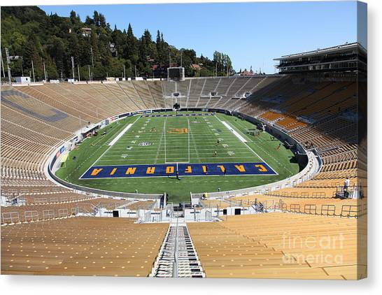 Pac 12 Canvas Print - Cal Golden Bears California Memorial Stadium Berkeley California 5d24682 by Wingsdomain Art and Photography