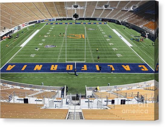 Pac 12 Canvas Print - Cal Golden Bears California Memorial Stadium Berkeley California 5d24684 by Wingsdomain Art and Photography