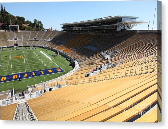 Pac 12 Canvas Print - Cal Golden Bears California Memorial Stadium Berkeley California 5d24686 by Wingsdomain Art and Photography