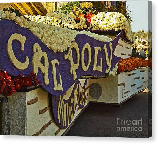 Cal Poly Canvas Print - Cal Poly Rose Parade 1 by Howard Stapleton