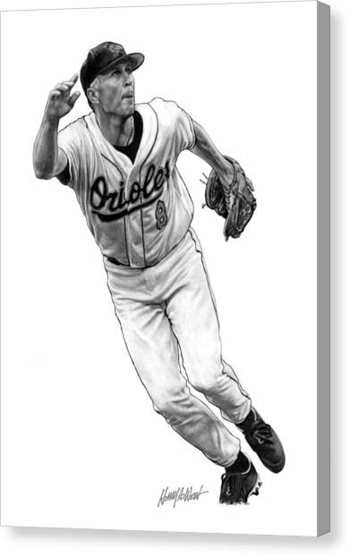 Orioles Canvas Print - Cal Ripken Jr I by Harry West