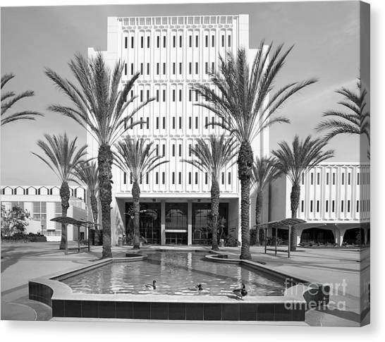 Cal State Fullerton Canvas Print - Cal State University Fullerton Langsdorf Hall by University Icons