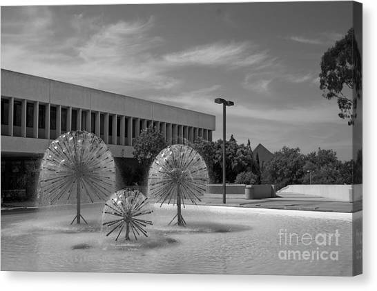 Big West Canvas Print - Cal State University Long Beach Student Union by University Icons