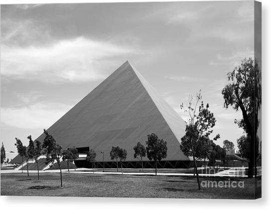 Big West Canvas Print - Cal State University Long Beach Walter Pyramid by University Icons